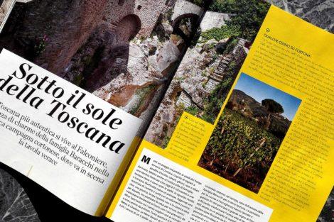 Rivista Viaggiare con GustoSano Sotto il Sole della Toscana